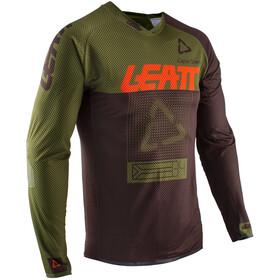 Leatt DBX 4.0 Ultraweld Koszulka rowerowa z zamkiem błyskawicznym Mężczyźni, forest